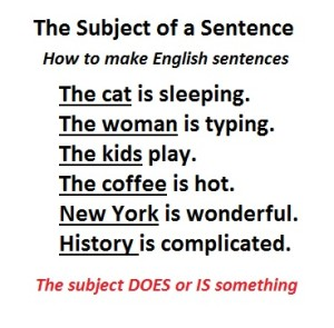 What is the Subject English grammar